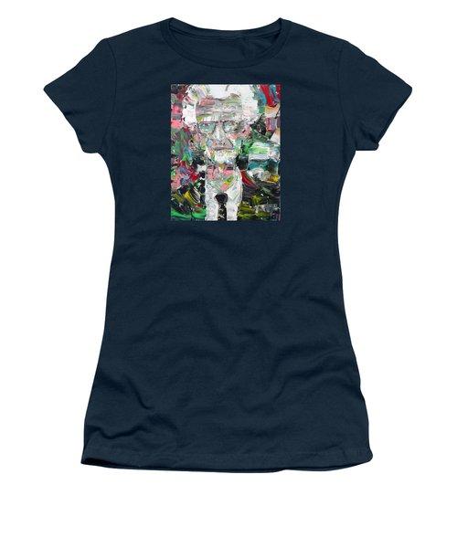 B. F. Skinner Portrait Women's T-Shirt (Junior Cut) by Fabrizio Cassetta