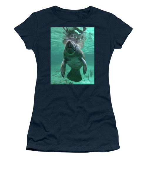 Baby Manatee Women's T-Shirt (Athletic Fit)