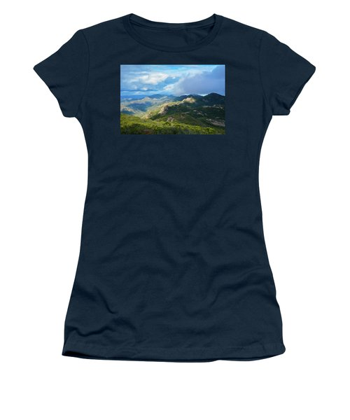 Backbone Trail Santa Monica Mountains Women's T-Shirt (Athletic Fit)