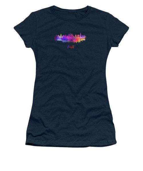 Bali Skyline In Watercolor Women's T-Shirt