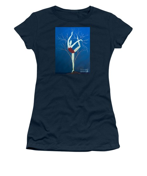Ballerina Tree Women's T-Shirt (Athletic Fit)