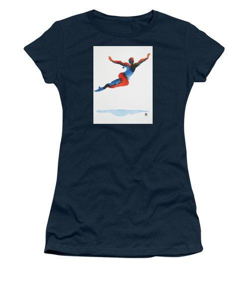 Ballet Dancer 1 Flying Women's T-Shirt (Junior Cut) by Shungaboy X