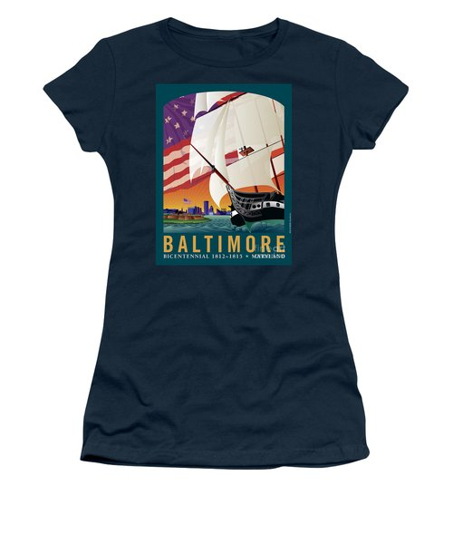 Baltimore - By The Dawns Early Light Women's T-Shirt (Athletic Fit)