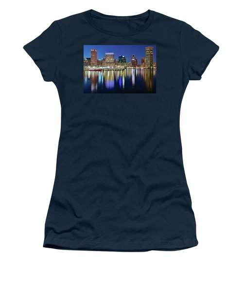 Baltimore Blue Hour Women's T-Shirt (Junior Cut) by Frozen in Time Fine Art Photography