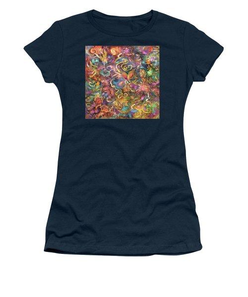 Batik Colorburst Women's T-Shirt (Athletic Fit)