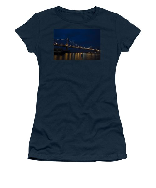 Bay Bridge At Night Women's T-Shirt