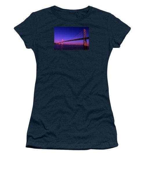 Bay Bridge Sunset Women's T-Shirt (Junior Cut)