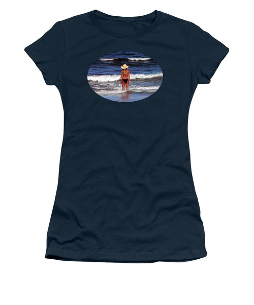 Women's T-Shirt (Junior Cut) featuring the photograph Beach Blonde .png by Al Powell Photography USA