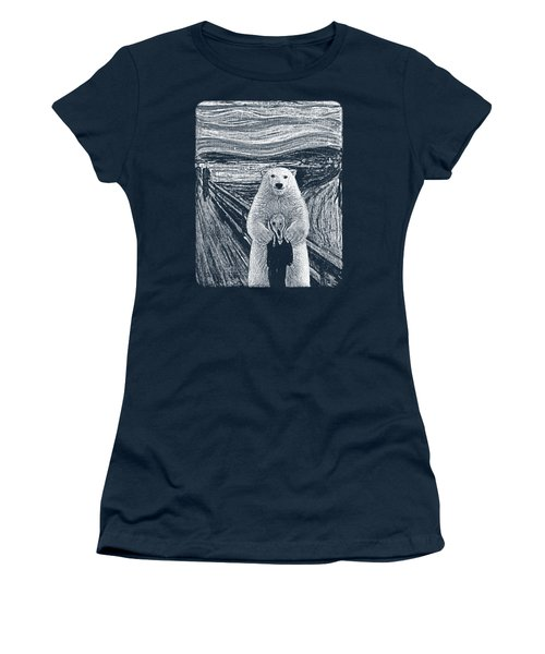 Bear Factor Women's T-Shirt (Junior Cut) by Mustafa Akgul