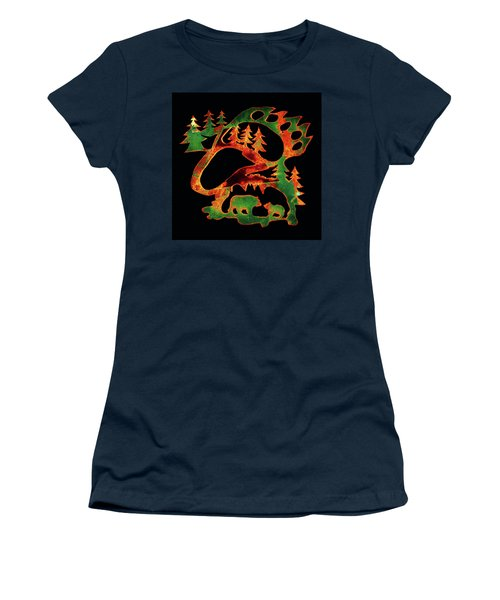 Women's T-Shirt (Junior Cut) featuring the photograph Emerald Bear Paw  by Larry Campbell