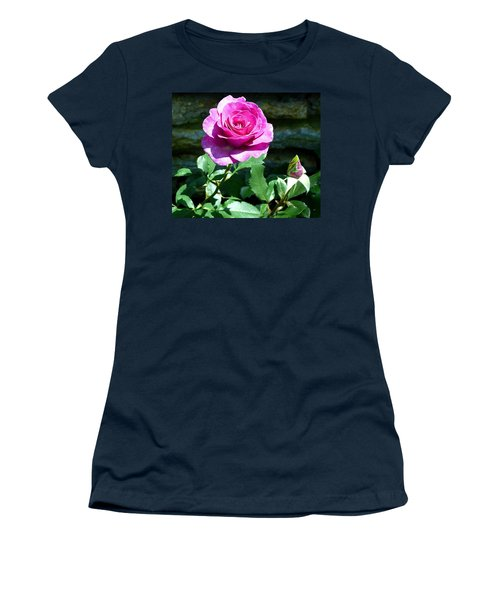 Women's T-Shirt (Junior Cut) featuring the photograph Beauty And The Bud by Will Borden