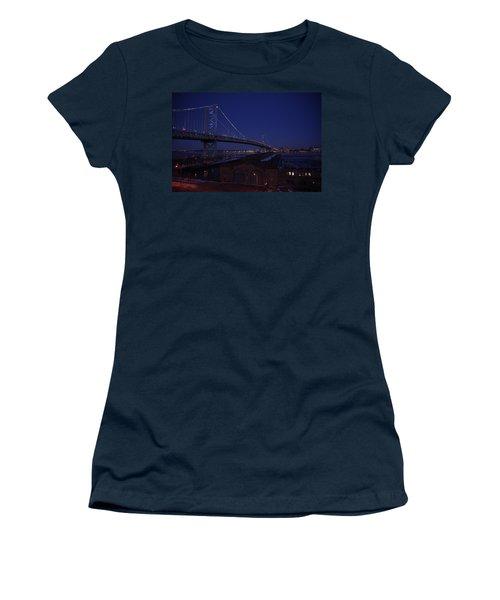 Benjamin Franklin Bridge Women's T-Shirt (Athletic Fit)