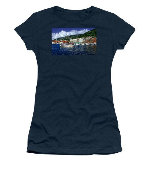 Bergen - Norway Women's T-Shirt (Junior Cut) by Anthony Dezenzio