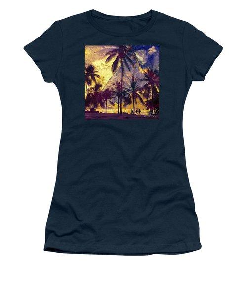 Women's T-Shirt (Junior Cut) featuring the photograph Beside The Sea by LemonArt Photography