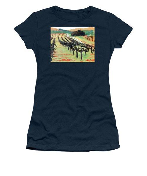 Between Crops Women's T-Shirt (Junior Cut) by Gary Coleman