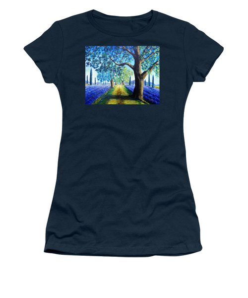 Between The Lavender Fields Women's T-Shirt (Athletic Fit)