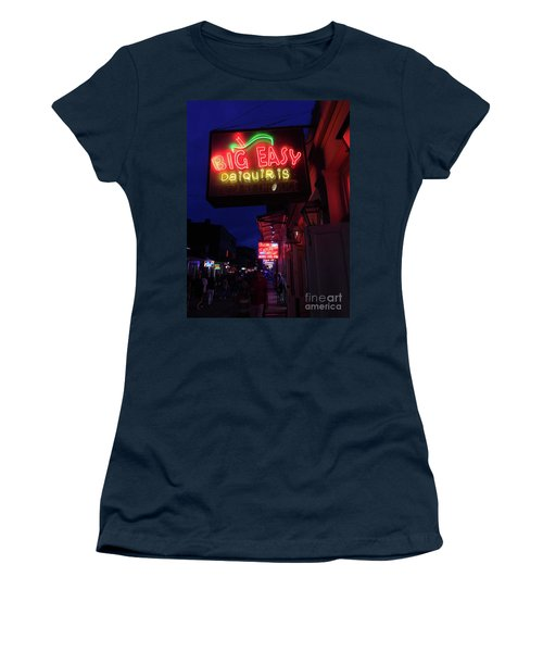Women's T-Shirt (Junior Cut) featuring the photograph Big Easy Sign by Steven Spak