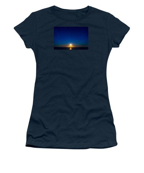 Big Sur Moonset Women's T-Shirt (Athletic Fit)