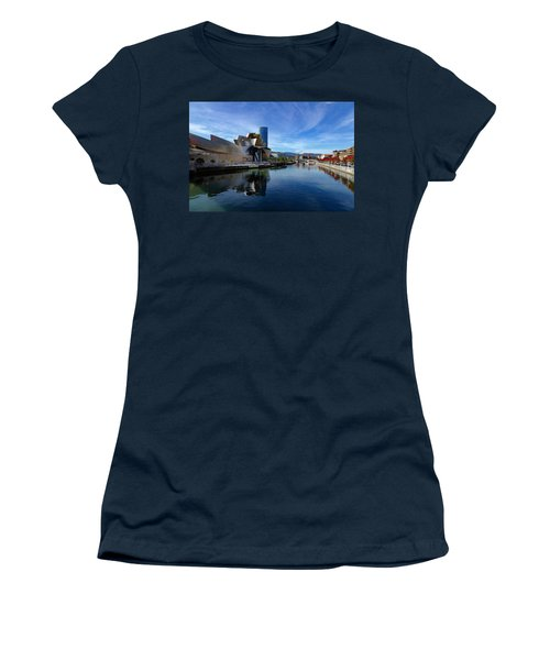 Bilbao In Autumn With Blue Skies Next To The River Nervion Women's T-Shirt