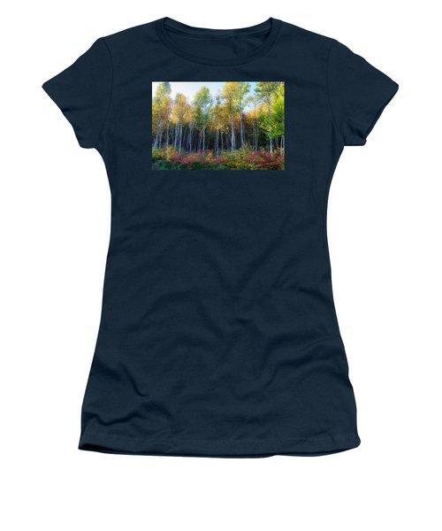 Birch Trees Turn To Gold Women's T-Shirt