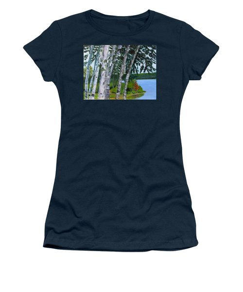 Birches At First Connecticut Lake Women's T-Shirt