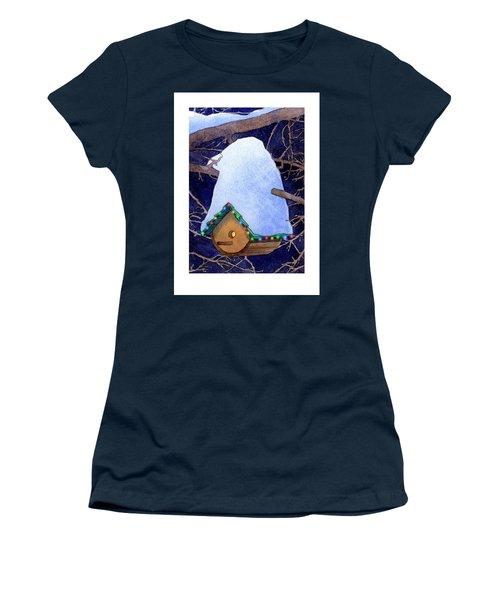 Bird House Christmas Women's T-Shirt