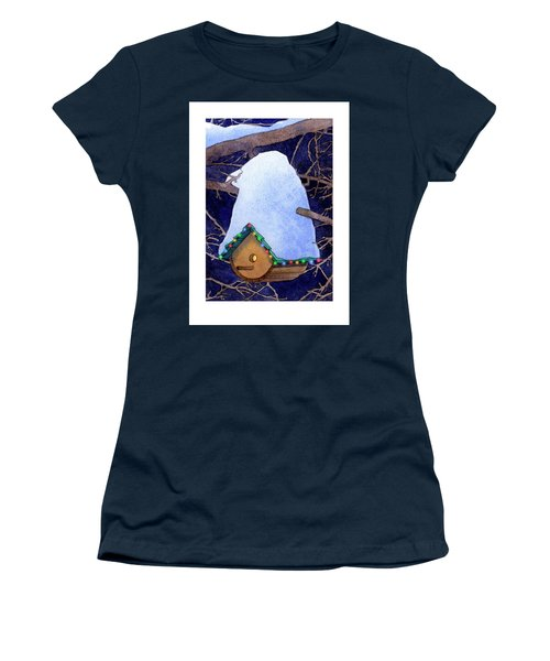 Bird House Christmas Women's T-Shirt