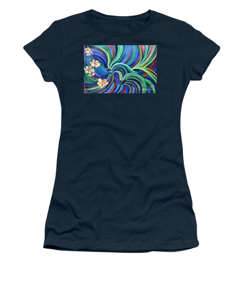 Bird Symphony With Frangipani Women's T-Shirt (Athletic Fit)