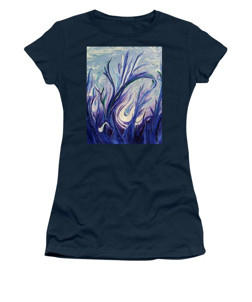Birth Of Music Women's T-Shirt (Junior Cut) by Lisa Rose Musselwhite