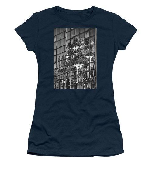 Women's T-Shirt (Athletic Fit) featuring the photograph Black And White Architecture Art by Sheila Mcdonald