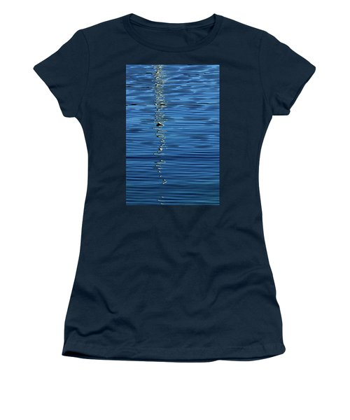 Black And White On Blue Women's T-Shirt (Athletic Fit)