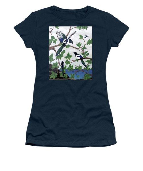 Black Billed Magpies Women's T-Shirt