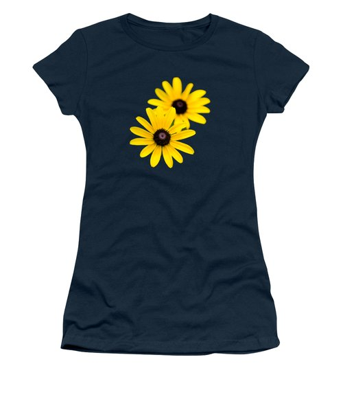 Black Eyed Susans Women's T-Shirt (Junior Cut) by Christina Rollo