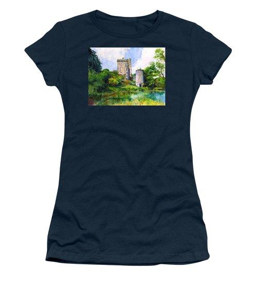 Blarney Castle Landscape Women's T-Shirt (Athletic Fit)