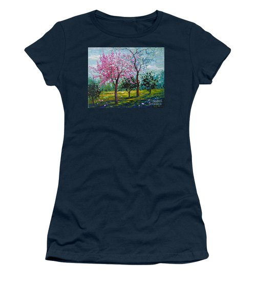 Bloom In Pink Women's T-Shirt (Athletic Fit)