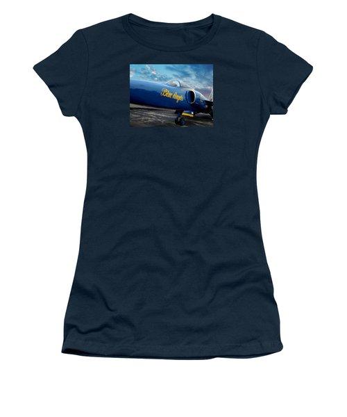 Blue Angels Grumman F11 Women's T-Shirt (Junior Cut) by Rod Seel