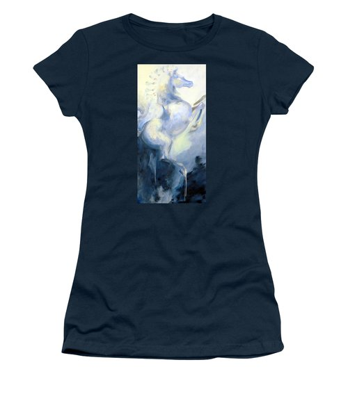 Blue Circus Pony 1 Women's T-Shirt (Athletic Fit)