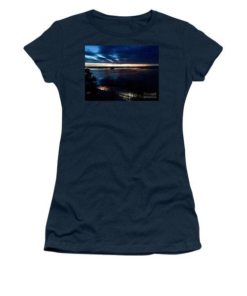 Blue Dawn On Casco Bay Women's T-Shirt (Athletic Fit)