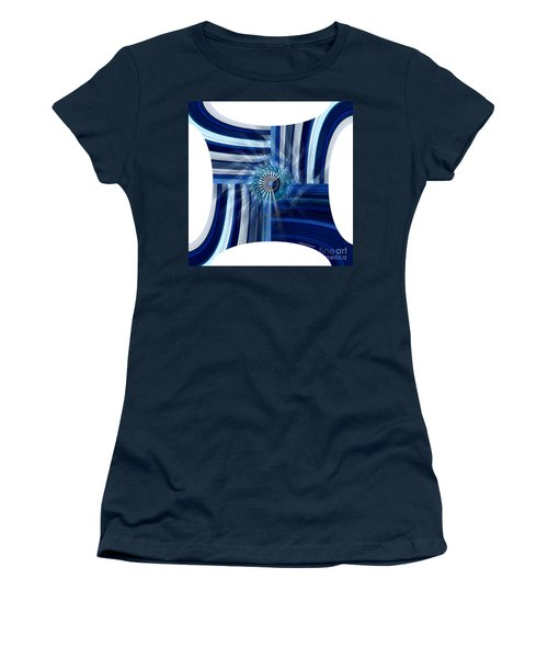 Blue Dimension  Women's T-Shirt (Athletic Fit)