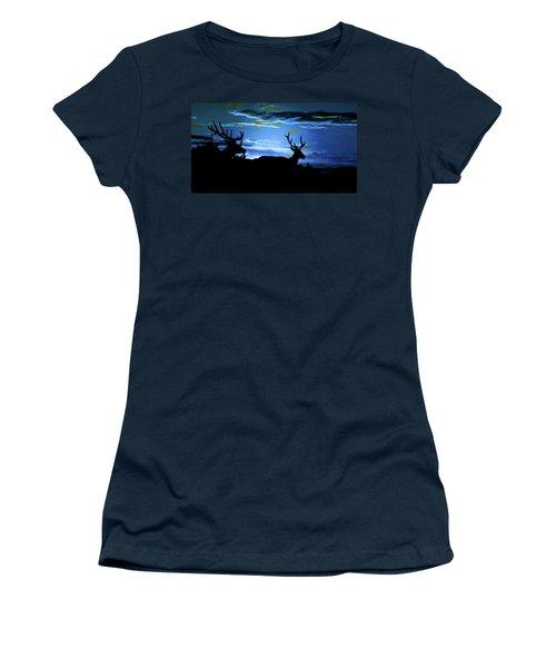Blue Elk Dreamscape Women's T-Shirt (Junior Cut)
