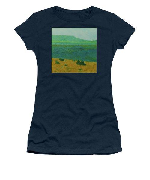 Women's T-Shirt featuring the painting Blue-green Dakota Dream, 2 by Cris Fulton