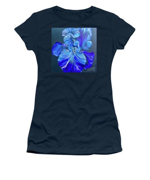 Blue/lavender Iris Women's T-Shirt (Athletic Fit)