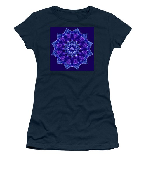 Blue And Purple Mandala Fractal Women's T-Shirt