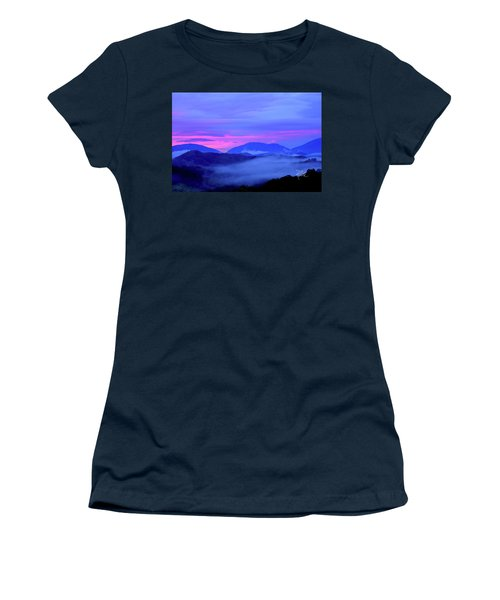 Blue Ridge Mountains Sunset Women's T-Shirt (Athletic Fit)
