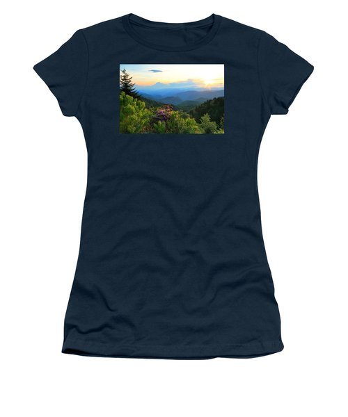 Blue Ridge Parkway And Rhododendron  Women's T-Shirt