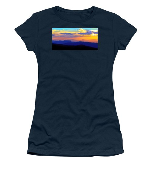 Blue Ridge Sunset, Virginia Women's T-Shirt