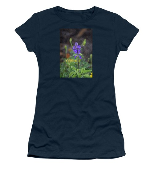 Blue Standing Women's T-Shirt (Athletic Fit)