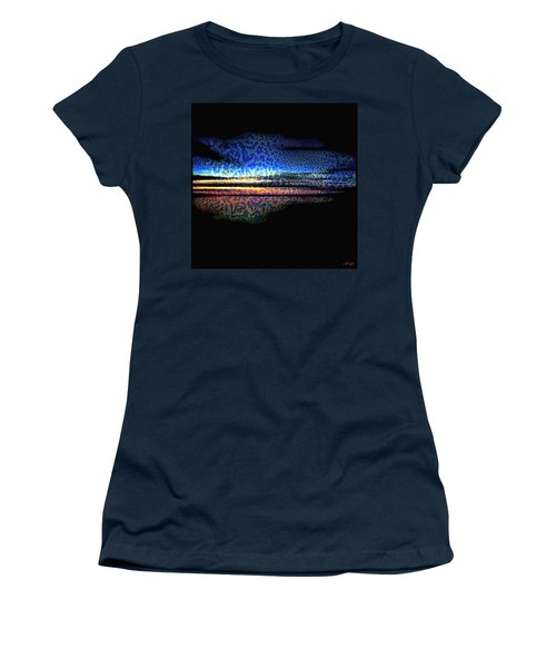 Blue Sunset On The Lake  Women's T-Shirt (Athletic Fit)