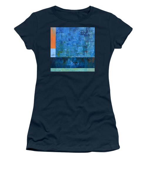Blue With Orange Women's T-Shirt (Athletic Fit)