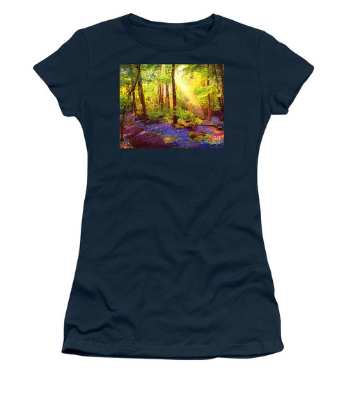 Women's T-Shirt (Junior Cut) featuring the painting Bluebell Blessing by Jane Small